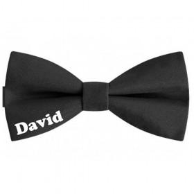 Papion copii negru, personalizat nume David