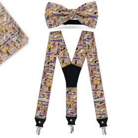 """Set papion, batistă, bretele, personalizat, """"Fotografie, Artă și Pasiune"""""""