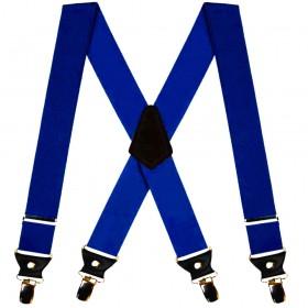 Bretele duble, extra late, albastre