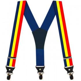 .Bretele tricolor, pentru barbati, model Romania mea
