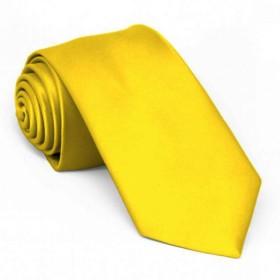 Cravata ingusta, galbena, personalizata