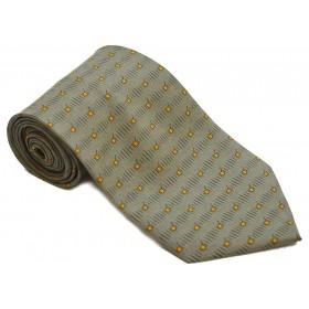 Cravata barbati gri plumb cu patratele portocalii 171