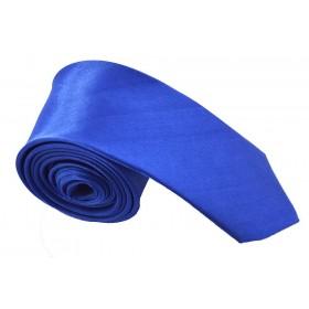 Cravata barbati ingusta albastra uni