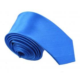 Cravata barbati ingusta bleu uni