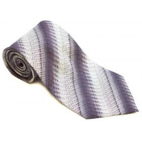 Cravata barbati mov model abstract argintiu 146