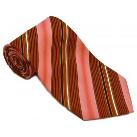 Cravata barbati rosie cu dungi oblice albe negre lila roz 183
