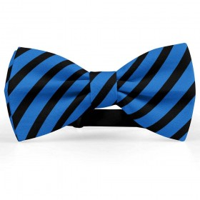 Papion barbati, albastru-denim, dungi negre late oblice