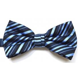 Papion albastru cu dungi oblice negre