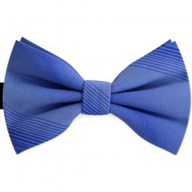 Papion butterfly, albastru regal, imprimeuri dungi orizontale discrete