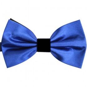 Papion barbati albastru cu fundal si nod negru
