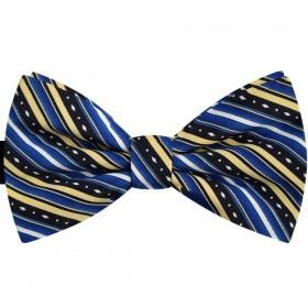 Papion albastru, dungi oblice galbene, butterfly