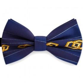 Papion barbati, albastru marin navy, model romburi aurii