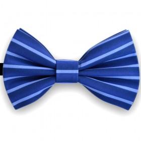 Papion barbati,  albastru smalt cu imprimeuri dungi azur
