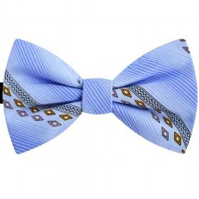 Papion barbati bleu, romburi galbene, butterfly