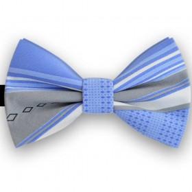 Papion butterfly, albastru primar, dungi oblice