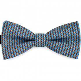 Papion albastru metalic, clasic, imprimeu Houndstooth