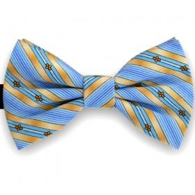 Papion butterfly, albastru ceruleum, imprimeu floral