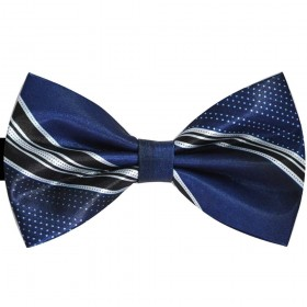 Papion albastru marin inchis, punctulete bleu si dungi
