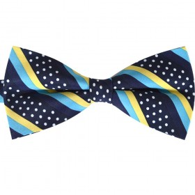 Papion bleumarin, clasic, galben, bleu