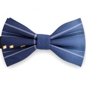 Papion barbati, albastru cobalt pigment, dungi delicate albe
