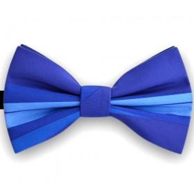Papion barbati, albastru, imprimeu dungi orizontale albastru regal