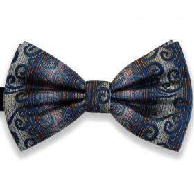 Papion chic, elegant, model valuri albastre Luxury Line