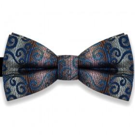 Papion clasic, elegant, model valuri albastre Luxury Line