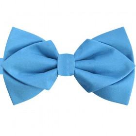 Papion diamant-butterfly albastru celest regal, azuriu, mat