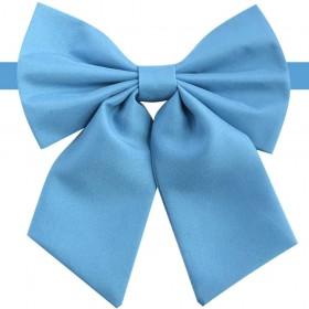 Papion femei albastru celest, azuriu, mat