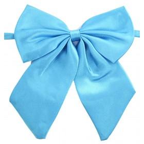 Papion dama, bleu turcoaz uni, cu bentite late