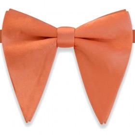 Papion amplu, model French Charm, elegant, portocaliu somon