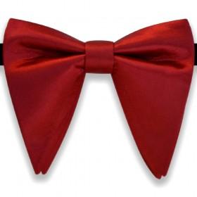Papion amplu, model French Charm, elegant, roșu trandafiriu uni
