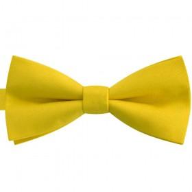 Papion bărbați, galben pai imperial, clasic, mat
