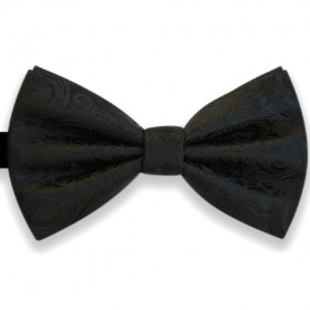 Papion negru, elegant, model Luxury Line