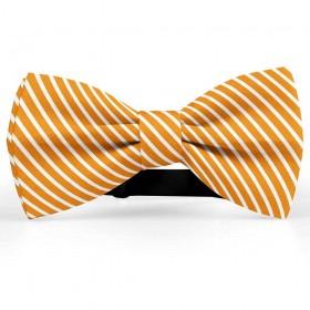 Papion butterfly, portocaliu, imprimeu dungi albe inguste