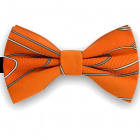 Papion barbati, portocaliu, imprimeuri dungi valuri