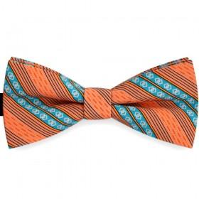 Papion barbati portocaliu caisa, clasic, forme geometrice