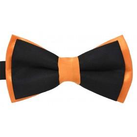 Papion dublu bicolor portocaliu cu negru