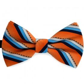 Papion portocaliu piersica, imprimeuri dungi oblice, butterfly