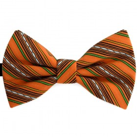 Papion portocaliu pal, imprimeuri dungi delicate oblice, butterfly