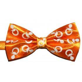 Papion portocaliu cu suzete albe