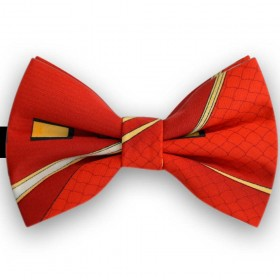 Papion butterfly, rosu heraldic, imprimeuri contrastante