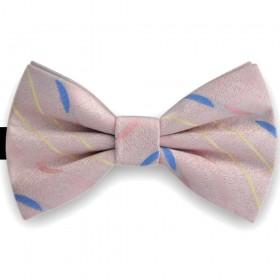 Papion barbati, roz garoafa, imprimeu hemisfera