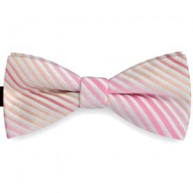 Papion barbati roz, clasic, dungi albe embosate