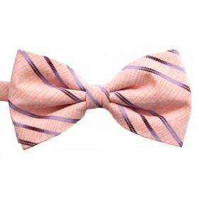 Papion barbati piersica cu dungi oblice colorate