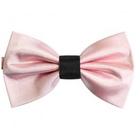 Papion roz pal, mijloc negru, butterfly