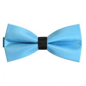 Papion bleu clasic, uni, bentita neagra