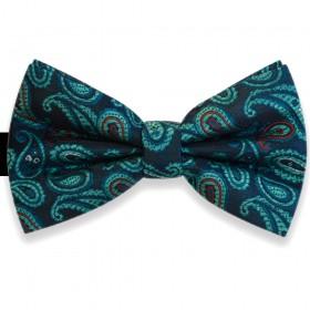 Papion bleumarin, elegant, model albastru-turcoaz Luxury Line