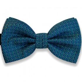 Papion albastru, model Mysterious Squares