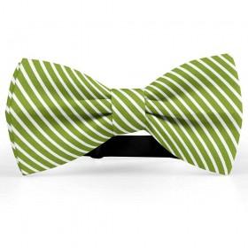 Papion butterfly, verde-oliv, imprimeu dungi albe inguste